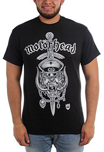 Motorhead - Männer Hiro Dagger Crest T-Shirt Black