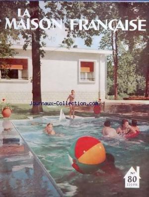 MAISON FRANCAISE [No 80] du 01/09/1954