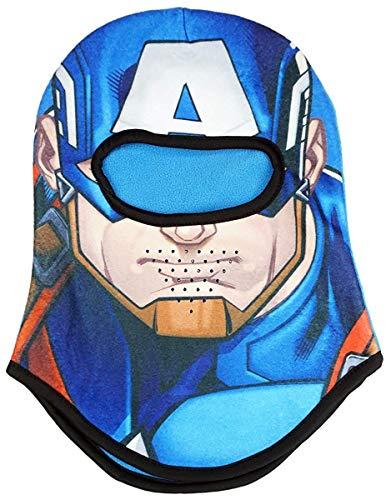 Kostüm Captain Junge America - Jungen Marvel Avengers Captain America Kapuze Maske Sturmhaube Kostüm Einheitsgröße - 3 Sich 12 Jahre - 3-12 Years