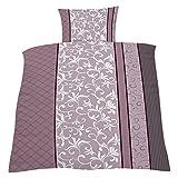 Home Dreams Bettwäsche Ornamente rosa aus 100% Baumwolle, 135x200 & 80x80, OekoTex, aufwendig verarbeitet, weich und anschmiegsam