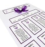 Personalised Handmade A3 Wedding Table Plan/Seating Plan