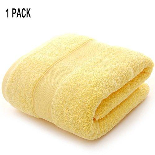 1 Stück Baumwolle Badetücher für Bad Spa Weichen saugfähigen verdicken Plüsch Dusche Handtücher,Yellow