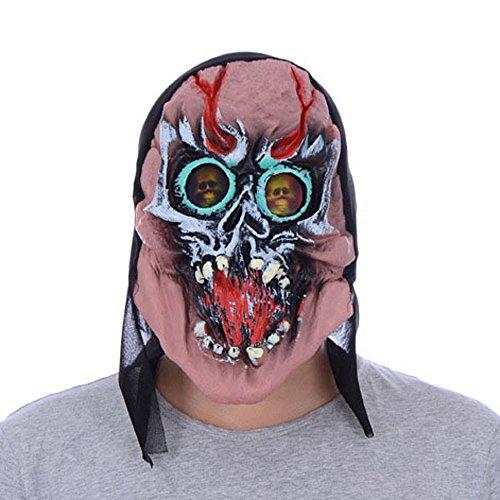 Pferd Kostüm Arzt - Sayla Halloween Maske Schwarz Horror Maske Latex Tierkopf Maske für Halloween Party Kostüm Dekorationen