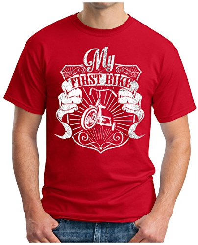 OM3 - MY-FIRST-BIKE - T-Shirt GEEK, S - 5XL Rot