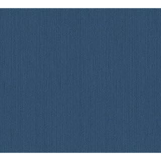 Architects Paper Textiltapete Tessuto 2 Vliestapete Tapete Unitapete 10,05 m x 0,53 m blau Made in Germany 968555 9685-55