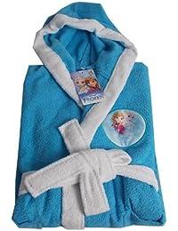 Albornoz con capucha para niña Disney Frozen Sisters Forever Celeste