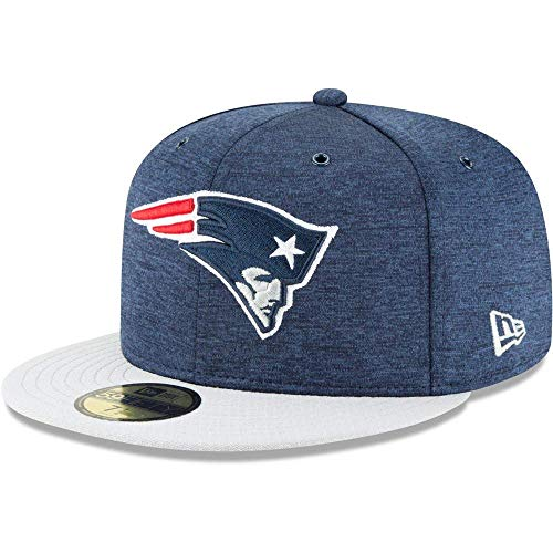 New Era NFL New England Patriots Authentic 2018 Sideline 59FIFTY Home Cap, Größe :7 1/4 (Era Cap Home New)