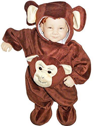 J47 Affe Größe 86-92 Kostüm für Kleinkinder, bequem über normale Kleidung zu tragen
