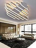 Woward LED Deckenlampe | Design LED Deckenleuchte; Lichtfarbe: weiß, warmweiß, dimmbar (Lampe: weiß | 130W | Lichtfarbe: dimmbar | WOW-7682-W-130)
