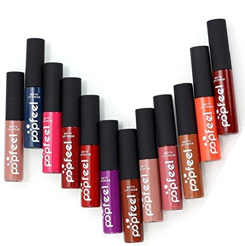 Sannysis Set de 12 colores Mágico Originales Lápiz labial brillo de labios