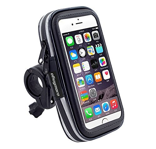 Schwarz Touchscreen Bike Mount wasserdichte Handy-GPS Schutzhülle Fahrrad Lenker Halter Tasche für iPhone 8 Plus/iPhone X/Samsung Galaxy Note 8/S8 Plus/S8 Active/J7 Pro/HTC U11/HTC U Ultra (8gb Schwarz Verizon 5 Iphone)