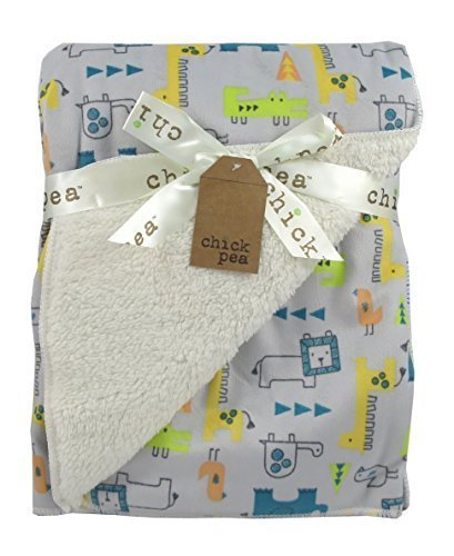Baby Blanket Jungle Theme Reversible by Chick Pea