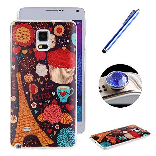 Etche Case pour Galaxy Note 3 ,Caoutchouc housse pour Samsung Galaxy Note 3,Coffret flexible pour Galaxy Note 3,étui en silicone pour iPhone 6 Plus,mignon éléphant multicolore Slim amant volière vélo  Pattern #7