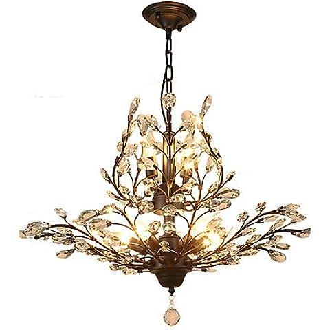 Vintage ZSQ Crystal Montaje empotrado/E12/E14 7luces/pintura metálica/ Salón / Dormitorio / Negro o Oro , 220-240 v-gold