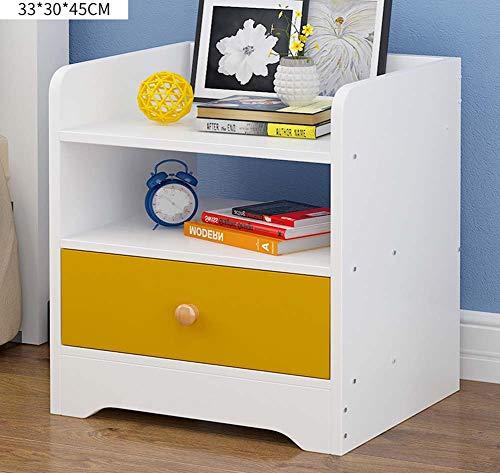 IG Haushalts-Nachttische Mini Wood-Based Panel Nachttisch, mit Schublade und Ablage, Schlafzimmer Locker Nacht Aufbewahrungsbox,#3 - 3-schubladen-panel