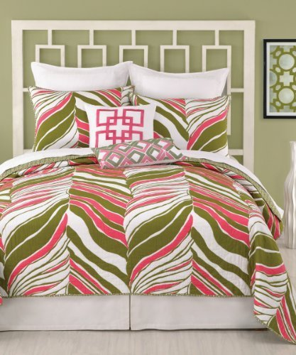 trina-turk-tiger-leaf-twin-coverlet-68-by-90-inch-pink-green-by-peking-handicraft-inc
