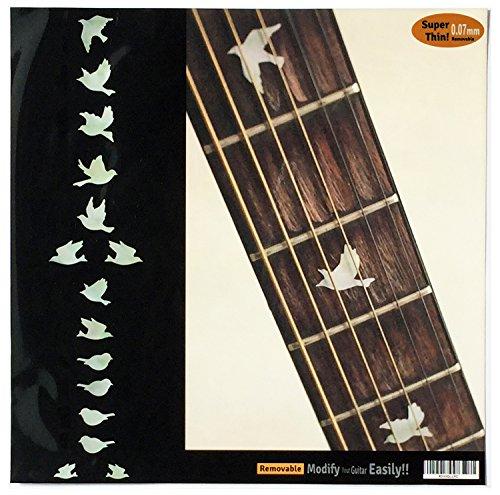 Griffbrett Marker Inlay Aufkleber Decals für Gitarre Bass-Dove (ws)