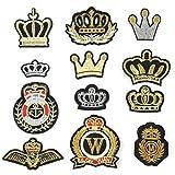 1 Set Crown Sew On/Eisen Auf Gesticktem Flecken Kleid