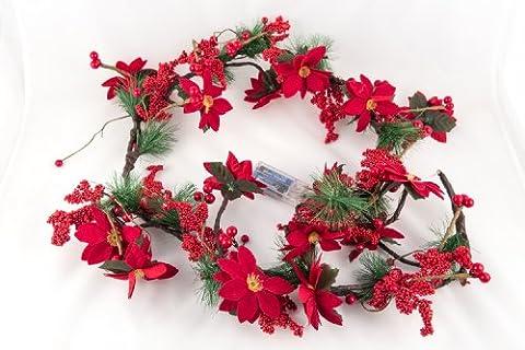 Adventskranz - Weihnachtsgirlande Weihnachtskranz beleuchtet