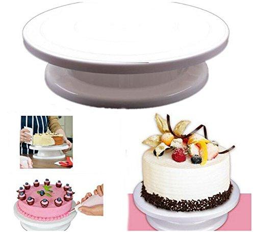 VWH Kuchen Drehscheibe Revolving-Kuchen, Stehen Kuchen-Standplatz, Weiße - Revolving-cupcake