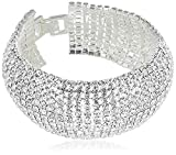 Yellow Chimes Crystal Spark Belt Bracelet for Women (White)(YCSWBR-BC01-WH)