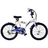 20 ZOLL BMX KINDER FAHRRAD RAD Bike KINDERFAHRRAD JUGENDFAHRRAD Kinderrad Blau CRAZY WEISS