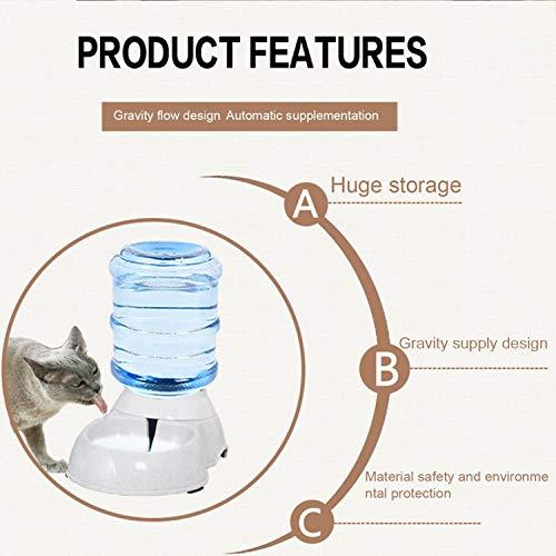 FairytaleMM Suministro de Alimentos para Perros Dispensador automático de Agua Alimentador de Agua Alimentador de Alimentos Tazones de alimentación para Perros y Gatos 3.5L de Gran Capacidad, Blanco