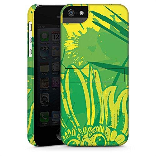 Apple iPhone X Silikon Hülle Case Schutzhülle Grün dschungel Art Premium Case StandUp