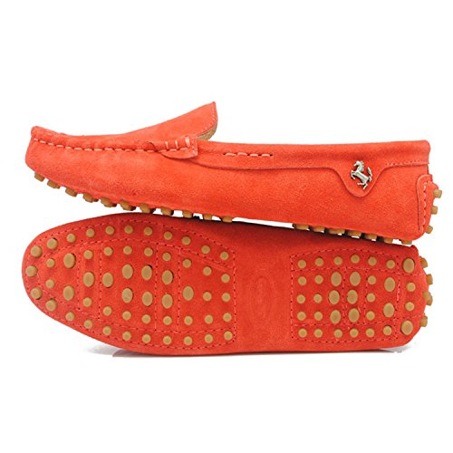 Minitoo da donna casual punta arrotondata Mocassini slipper Flats Dark Orange