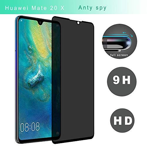 Seinal 3D Full Screen Panzerglas Sichtschutzfolie kompatibel mit Huawei Mate 20 X [1 Stück] 9H Blickschutz Privacy Schutzfolie Anti-Spy Glasfolie Tempered Glas HD Anti-Spähen Bildschirmschutzfolie
