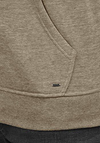!Solid Olli Ziphood Herren Sweatjacke Kapuzenjacke Hoodie mit Kapuze Reißverschluss und Fleece-Innenseite, Größe:L, Farbe:Sand Melange (8409) - 5