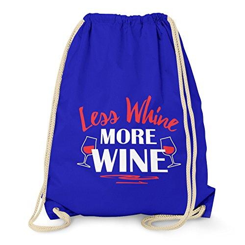 TEXLAB - Less Whine More Wine - Turnbeutel, marine