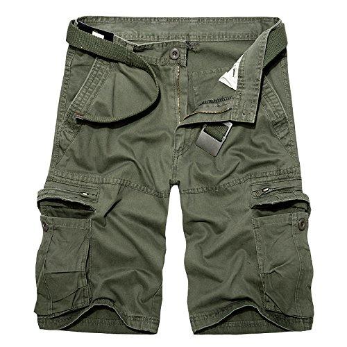 AYG Cargo Shorts Bermudas Hombre Pantalones Cortosarmy
