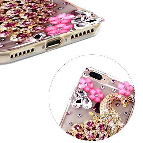MOMDAD TPU Etui pour iPhone 7 Plus Souple Coque iPhone 7 Plus 5.5 Pouces TPU Silicone Coque iPhone 7 Plus 5.5 Pouces Soft Gel Silicone Etui iPhone 7 Plus 5.5 Pouces TPU Silicone Housse iPhone 7 Plus D TPU-Strass-2