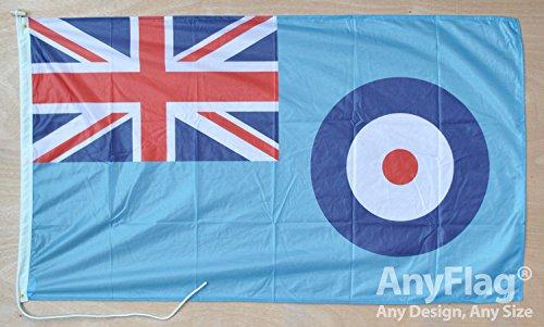 anyflag® RAF Ensign Roped und Kordel 5ft x 3ft Flagge (Baumwoll-Öse Gewebte)