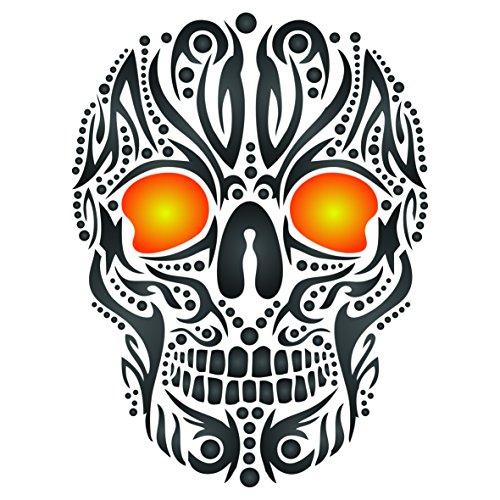 ne-wiederverwendbar Tribal Ethnic Maori Wand Schablone-Vorlage, auf Papier Projekte Scrapbook Bullet Tagebuch Wände Böden Stoff Möbel Glas Holz usw. m ()