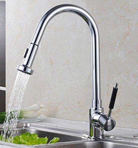 Preisvergleich Produktbild XMJ Plattform-angebrachte bleifreie Auszug-Spray-und drehende Spray-Küche-Wannen-Hahn-Mischer
