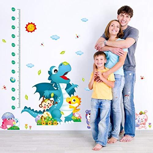 Lxtmgzgf Cartoon Tiere Dinosaurier Tiere Wandaufkleber Kinder Höhenmessung Wandtattoos Höhe Wachstum Chart Lineal Tapete Poster