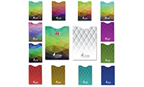 14 x RFID card protector Blocking Sleeves set of 12 x credit card protectors & 2 x Passport holder