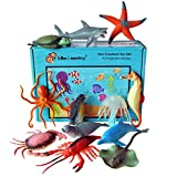 Sea Creature Toy Animal Figures - set of 12 boxed