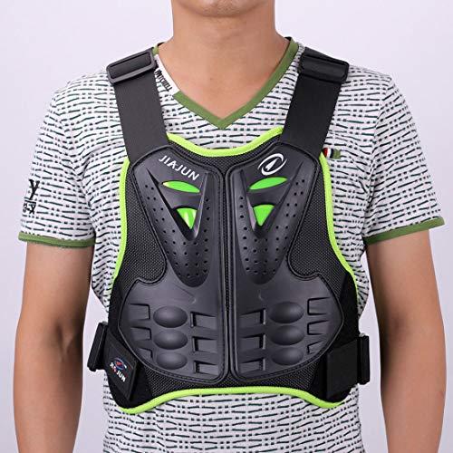 METTE Motorrad-Schutzweste, Sport Motocross MTB Racing Body Armor Protector Rückenschutz Anti-Fall-Atmungsaktive Jacke, Ritter Spezialschutzausrüstung,Green,M