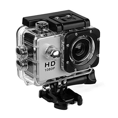 Action Kamera HD 720Psports Cam - HD Wifi Unterwasserkamera Tauchen Wasserdicht Action Camcorder Mit Zubehör Für Kinder, Schnorcheln, Motorrad, Fahrrad, Helm, Auto, Ski und Wassersport,Silver