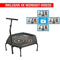 Hammer Fitness-Trampolin Cross Jump inklusive 4 Workout-Videos!, 98 cm Sprungfläche, leistungsstark bis 130 kg Benutzergewicht preisvergleich bei fajdalomcsillapitas.eu