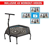 Hammer Fitness-Trampolin Cross Jump inklusive 4 Workout-Videos!, 98 cm Sprungfläche, leistungsstark...