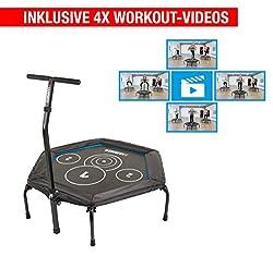 Hammer Fitness-Trampolin Cross Jump inklusive 4 Workout-Videos!, 98 cm Sprungfläche, leistungsstark bis 130 kg Benutzergewicht