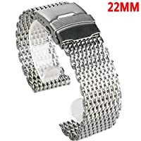 LZDseller01 18/20/22/24mm Quick Release Stainless Steel Watch Band,Stainless Steel Mesh Band Waterproof Men