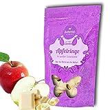 Henosa Apfelringe in weißer Schokolade