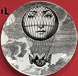 JKFJY FOLD 10 pollici Fornasetti Piatti Illustrazione di bellezza Appesi Piatti decorativi artigianali Homehotelbar Sfondo Piatto per ornamenti