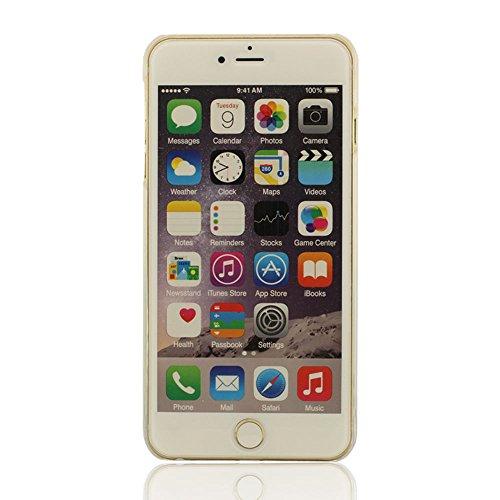 iPhone 6 Plus / iPhone 6S Plus (5.5 Zoll) Flüssigkeit Hülle Blau Wasser Rückseite, Rubber Ducks, Veronika Schwimmende Blumen Schwer Schale Case + Silikon-Haltewinkel (iPhone 6 4.7 Zoll nicht enthalten B