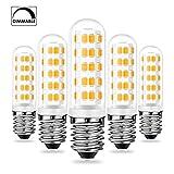 E14 LED Dimmbar Lampen 6W Warmweiß 3000K 520LM Ersatz für 40W 50W 60W E14 Halogen Lampen, Standard E14 Sockel, AC220-240V, 360 ° Abstrahlwinkel, CRI> 83 LED E14 Leuchtmittel, 5er Pack